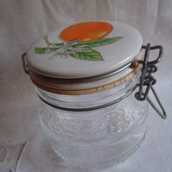 Food Glass Container with Lid , Sealed Glass Jelly Jar ,  On Sale