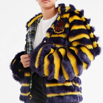 Puma Fenty by Rihanna Faux Fur Striped Jacket | Urban Outfitters