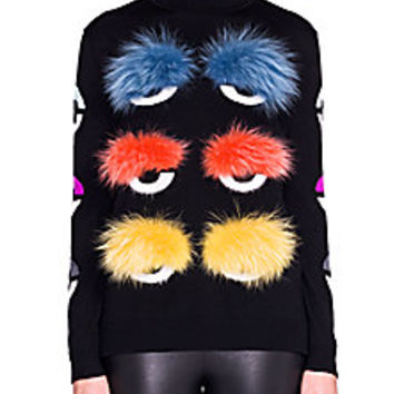 Fendi - Fur & Wool Turtleneck Sweater - Saks Fifth Avenue Mobile