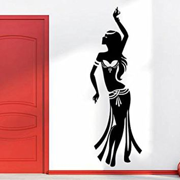 Eastern Dance Wall Decal Woman Girl Silhouette Dancing Vinyl Sticker Decals Home Decor Studio Dance Art Design Interior NS1075