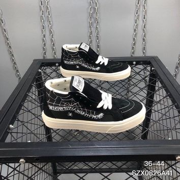 vans sk8 mid unisex casual fashion letter spider web plate shoes couple sneakers