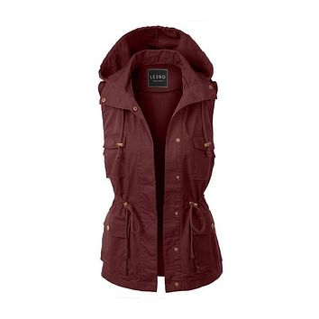 Hooded Military Vest (several colors)