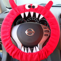 MADE to Order BRUCE Red GENUINE Monster Steering Wheel Cover