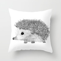 BABY HEDGEHOG Throw Pillow by StudioSotron