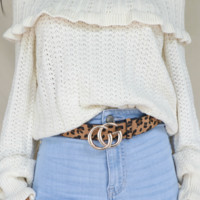 All Ruffled Up Cream Off Shoulder Ruffle Sweater