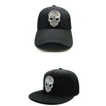 Trendy Winter Jacket LDSLYJR 2018 personality skull embroidery cotton Baseball Cap hip-hop cap Adjustable Snapback Hats for kids and adult size 277 AT_92_12