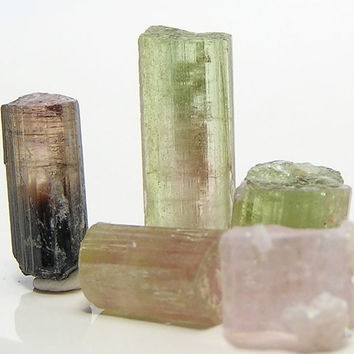 Colorful Tourmaline Gemstone Rough Crystal Points Stone Sticks 30 carats