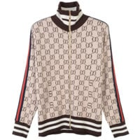 GUCCI Fashion Casual Zipper Long Sleeve Pritn Cardigan Jacket Coat G