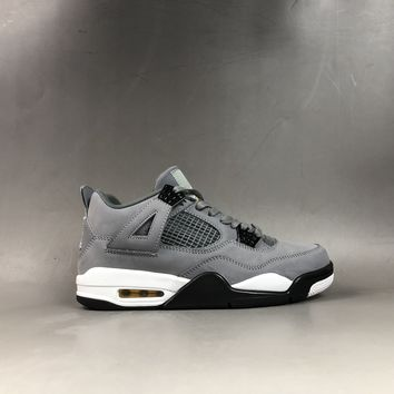 HCXX 19June 931 Nike Air Jordan 4 Retro Cool Grey 308497-001 Casual Basketball Shoes