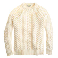 J.Crew Womens Mixed Cable Sweater