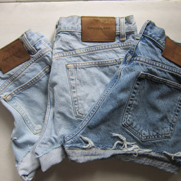 Cheap Price Original Clearance Recommend High Rise Denim Shorts Calvin Klein Clearance Free Shipping Ivakida
