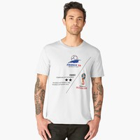 'France, champions fo the world cup 1998 and 2018' Camiseta premium para hombre by hypnotzd