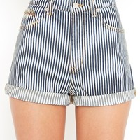 Train Wreck Denim Shorts