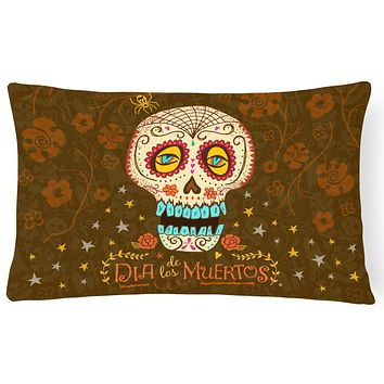 Day of the Dead Canvas Fabric Decorative Pillow VHA3031PW1216
