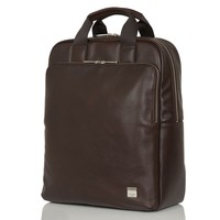 Dale Men's Tote Leather Laptop Backpack - Brown | KNOMO