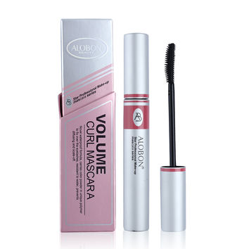 Black ink Alobon Cosmetic 3d Fiber Lashes Mascara Individual False Eyelashes Extension Colossal Mascara Volume Express Makeup