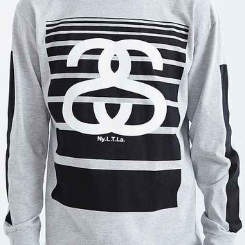 Stussy SS 80 Fade Long-Sleeve Tee- Grey