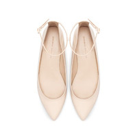 POINTED BALLERINA WITH ANKLE STRAP - Shoes - Woman   ZARA United States