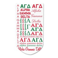 Alpha Gamma Delta - Sorority Full Print Word Art No-Show Socks - 1 pair