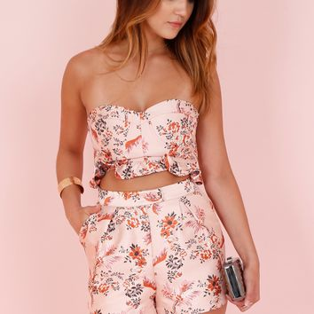 ENDLESS ROSE | Brocade Tailored Shorts - Dusty Rose