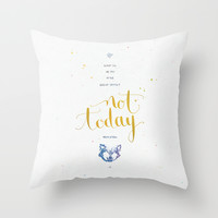 """Game of Thrones """"Not today"""" Throw Pillow by Earthlightened"""
