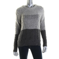 Marc by Marc Jacobs Womens Wool Blend Cable Knit Crewneck Sweater