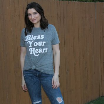 Bless Your Heart Tee - Gray