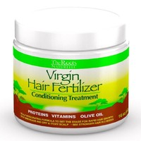 The Roots Naturelle Virgin Hair Fertilizer Conditioning Treatment (1 Jar 16oz) - Virgin Hair Fertilizer (Large 16oz). Helps Strengthen Hair, Promote Rapid Hair Growth and Protect/ Restore Damaged Hair