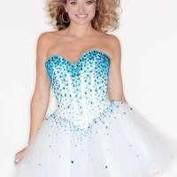 Mori Lee Sticks & Stones Dress 9214 at Peaches Boutique