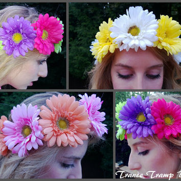 Daisy Halo (lana del rey, rave, edc, flower child, headband, hippie, boho, head band)