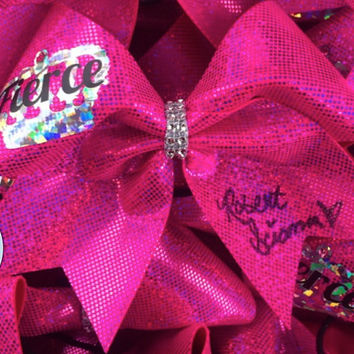 Robert Scianna autographed FIERCE Cheer Cheerleading Bow