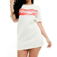 ONETOW Savage Mode TShirt Dress