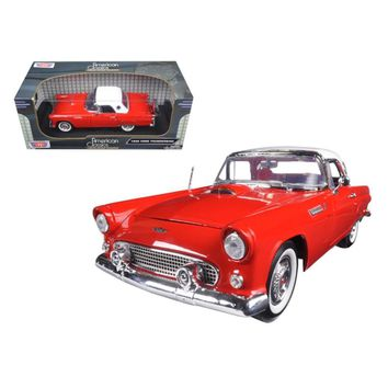 1956 Ford Thunderbird Hard Top Red 1-18 Diecast Model Car by Motormax