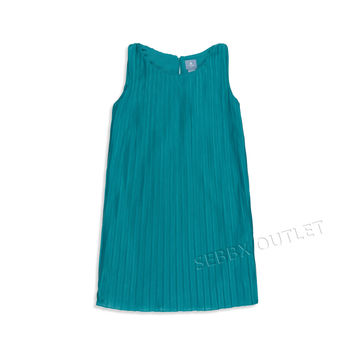 Baby Gap Dress Sleeveless Emerald Green Accordion Style