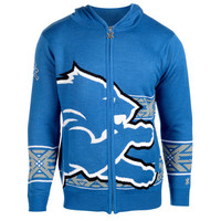 Detroit Lions Official NFL Full Zip Hooded Sweatshirt by Klew