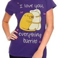 Adventure Time Love Burrito Girls T-Shirt