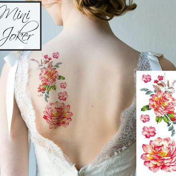 Mini Joker | Awesome Tattoos Flora Back Tattoo for Women