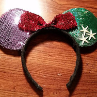 Ariel inspired Disney Mickey Ears