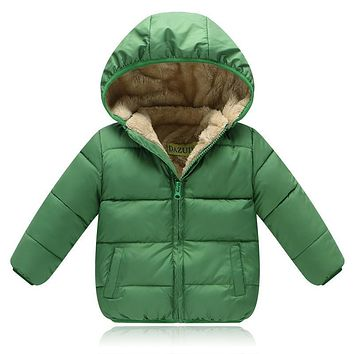 2017 Fashion Children Winter Jackets for Boys Cotton Jackets and Coat Thick Warm Outerwear Fur Warm Hood Coats for 2-6 Years