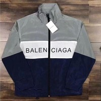 """BALENCIAGA"" Trending Letter Print Women Men Zipper Cardigan Sweatshirt Jacket Coat Windbreaker Sportswear I"