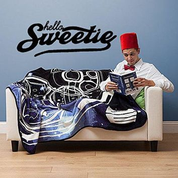 Dr. Who Inspired Hello Sweetie Wall Decal Parody Sticker