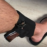 DCCKUH3 Tactical Padded Concealed Ankle Holster Strap Belt Ankle Leg Gun Holster Pouches Black Hunting Bag Belt Outdoor Tactical Gear