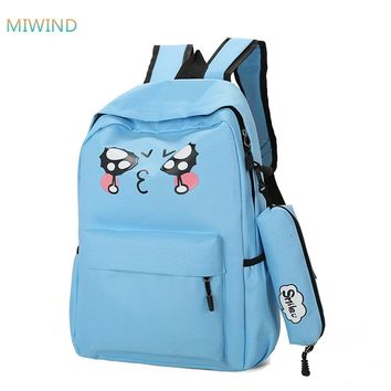 MIWIND fashion School Backpacks For Men and Women New Design Laptop luggage Travel notebook Backpack Canvas Bag XM051
