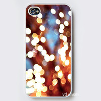 iPhone Case - Dreamland - iPhone 4 Case, iPhone 4S Case - Photo Cell Phone Cover. christmas bokeh lights on tree surreal abstract