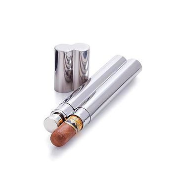 Admiral Stainless Steel Cigar Holder and Flask