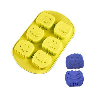 Silicone Mold Halloween Series Pumpkin Fondant Mold For Gag Party Resin Clay Cake Decorating Tool Candy Chocolate Mould