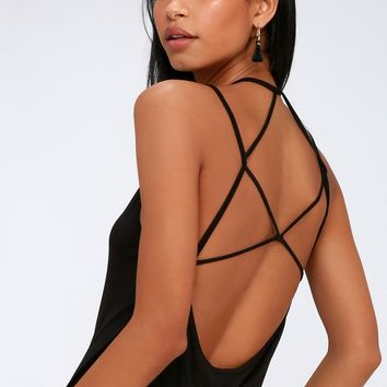 Mantua Black Strappy Tank Top