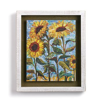 Sunny Days Floral Shadow Wall Box Art