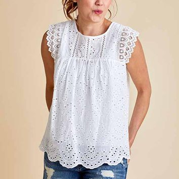 Faith Apparel Eyelet Top