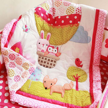 High quality 100 cotton 84107cm baby quilt lovely delicate cartoon baby bedding crib
